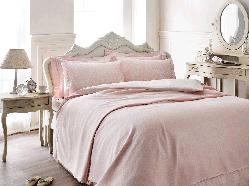 Tivolyo home КПБ PUNTO + покривало Pembe рожевий