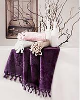 Tivolyo Home набор полотенец NERVURES 2 пр фиолетовый