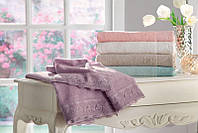 Tivolyo Home набор полотенец FANCY 3 предмета розовый