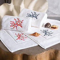 Tivolyo Home  полотенце CORALO NAKISLI 50*100 красный