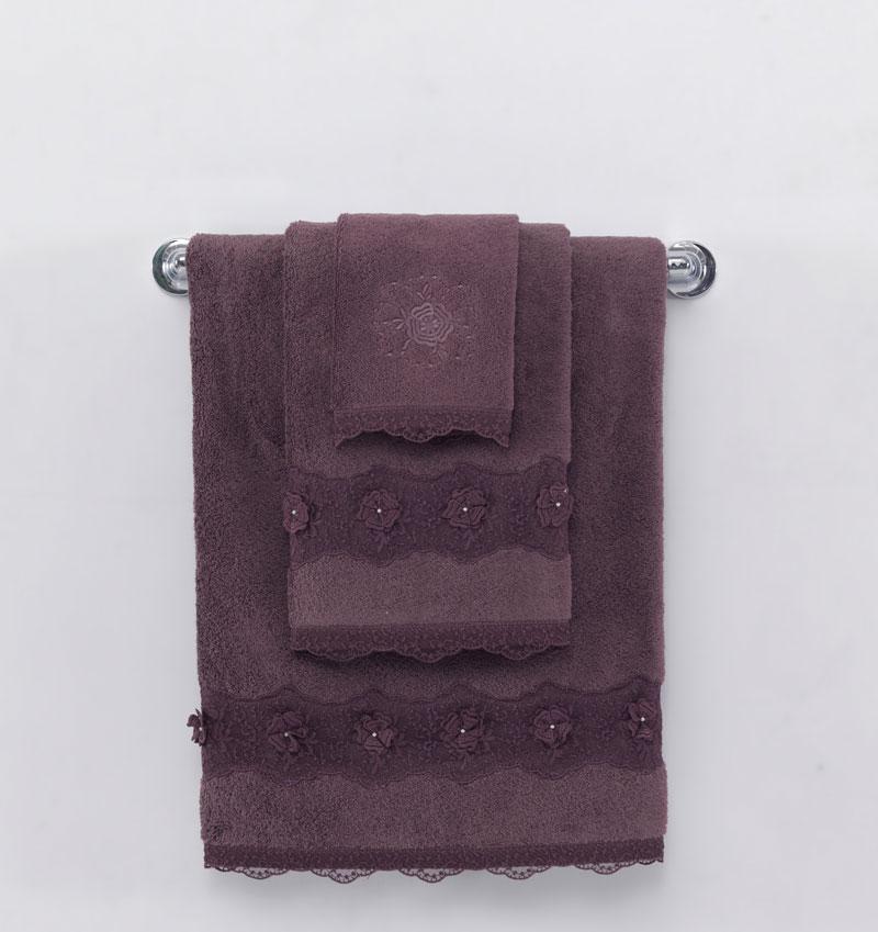Soft cotton рушник лицьове YONCA 50х100 murdum. фіолетовий