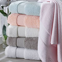 Soft cotton банное полотенце ELEGANCE 85х150 beyaz. белый