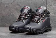 Чоловічі зимові черевики Ecco  темно- сині (3553)