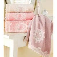 Soft cotton лицевое полотенце DESTAN 50х100 Pudra пудра