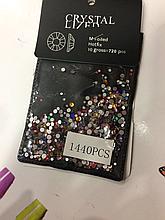 Стразы для дизайна ногтей,микс ss3-ss10 цветные