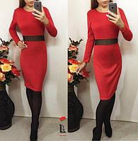 Платье со вставкой от производителя 42 44 46 48 50 Р, фото 1