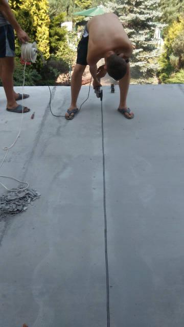Заливка стяжки на терасі 1