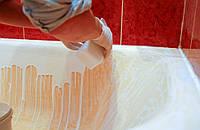 Реставрация ванн в Одессе наливным способом материалом жидкий акрил