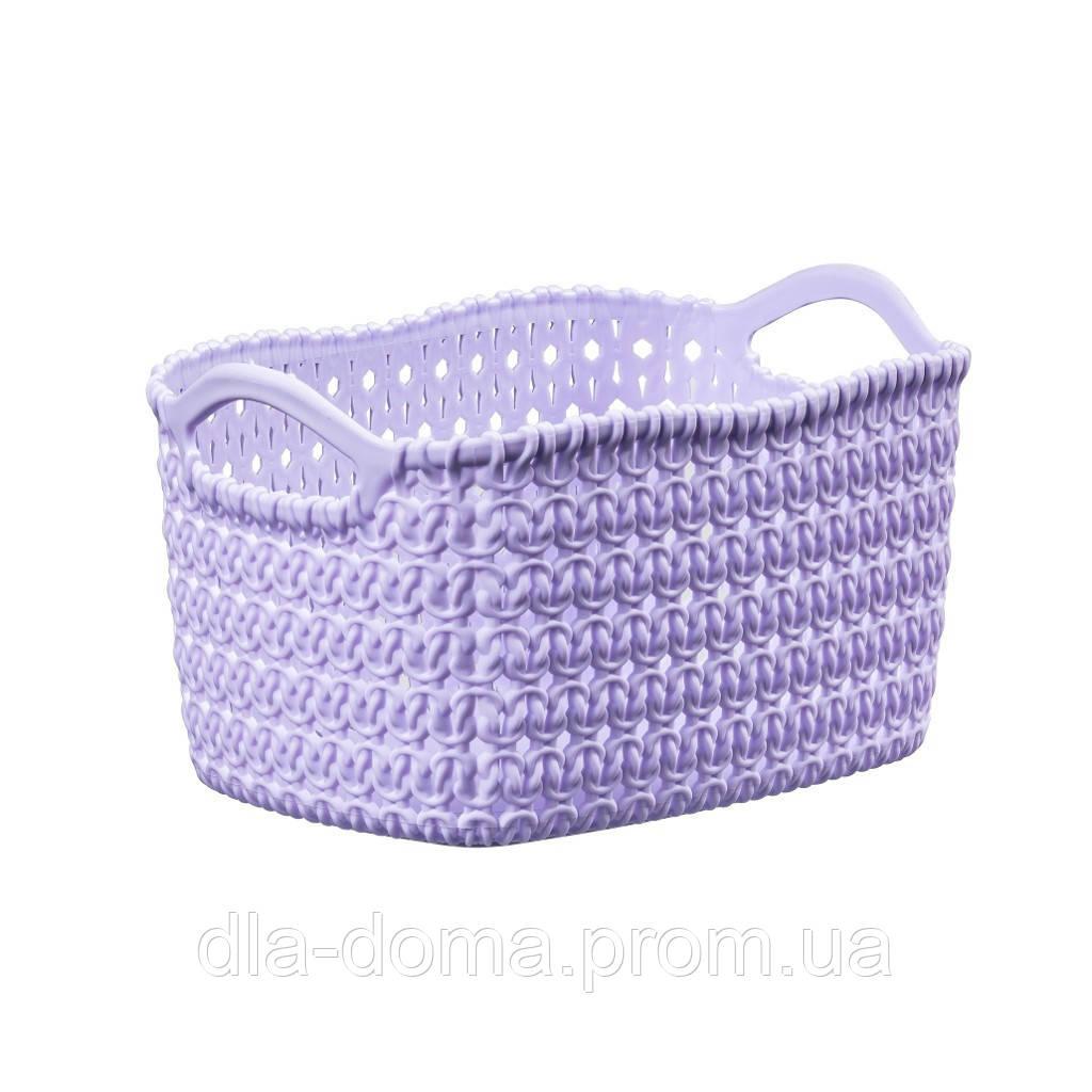 Корзина вязка фиолетовая 29,5х38х22