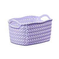 Корзина вязка фиолетовая 29,5х38х22, фото 1