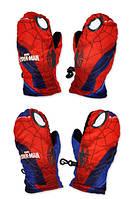 Болоневые перчатки для мальчиков оптом, Spider-man, 3-6 лет,  № CR-A-GLOVE-33