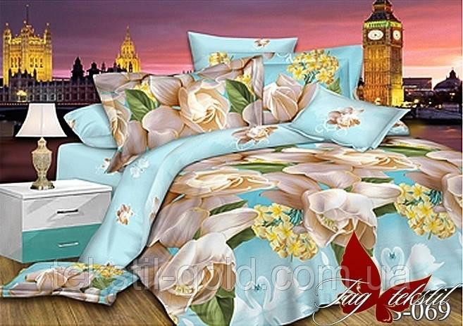 1,5-спальный комплект постельного белья S069 Сатин