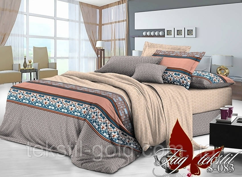 1,5-спальный комплект постельного белья S-083 Сатин