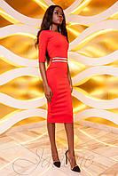 Женское платье Богемия красное