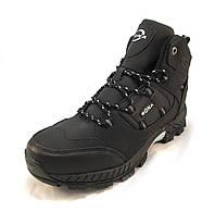 Ботинки мужские с мехом BONA кожаные черные (р.44 ebcf5cfc334dc