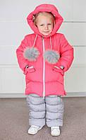 Зимний комбинезон для девочки Колибри, персиковый