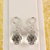 012-0058 - Серьги с кристаллами Swarovski Drop Crystal родий