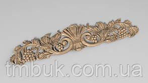 Горизонтальный декор 44 корона из дерева - 400х88 мм, фото 2