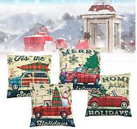 Наволочка на подушку новогодний декор Christmas pillowcase (#1)