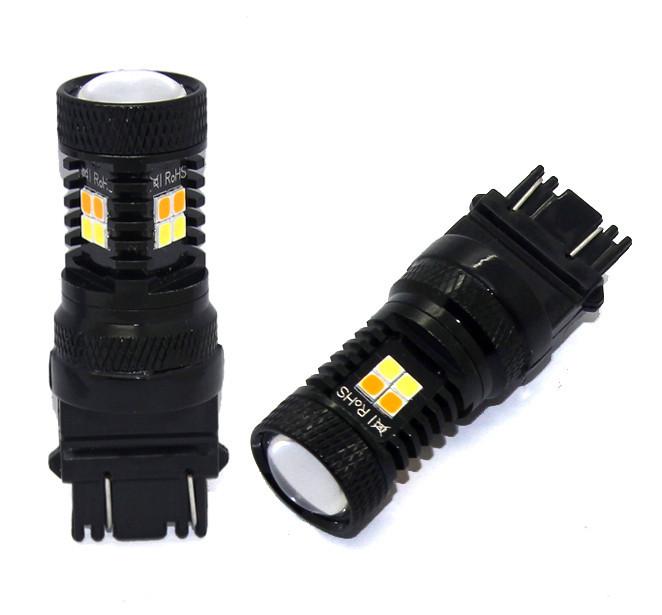 Двоколірна (білий+жовтий) світлодіодна лампа 3157 P27/7W - 3030SMD Osram Dual color lamp