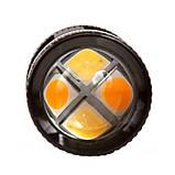 Двоколірна (білий+жовтий) світлодіодна лампа 3157 P27/7W - 3030SMD Osram Dual color lamp, фото 4