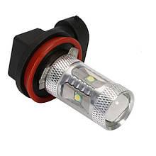 Светодиодная автолампа H8, 30W (650-700 Lm) WARM, (6 LED 5W CREE) + Линза