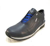 Кросовки мужские Nike с мехом кожаные синие (р.43,44)
