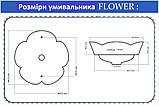 Керамічний настільний умивальник FLOWER REA, фото 3