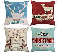 Наволочка на подушку Merry Christmas (#4)