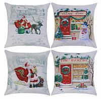 Наволочка на подушку новогодний декор New Year pillowcase (#4)