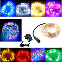 Гирлянда струна Wire Led String,10 метров – 100 mini led (синий)