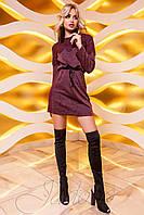 Женское платье-туника Эрика бордовая