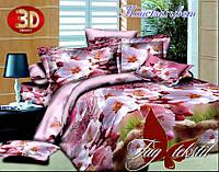 Семейный комплект постельного белья Майский цвет с компаньоном
