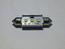 Светодиодная CANBUS автолампа с обманкой FT10-41mm-9W (300Lm) CREE LED