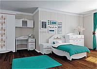 Белая мебель Николь для комнаты девочки