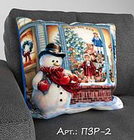 Подарочная подушка с 3-д рисунком. Подарок на Новый Год и Рождество