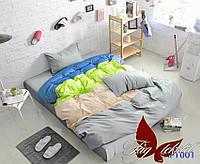 Евро комплект постельного белья Color mix APT001 Поплин хлопок 100%