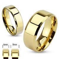 Кольцо для влюбленной пары, материал сталь, покрытие gold ip, золотого цвета, с гипоаллергенным слоем