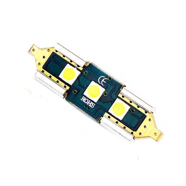 Светодиодная софитная  автолампа (C5W С10W)  31mm 3-3030SMD canbus Sumsung