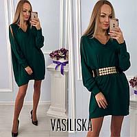 Платье-туника теплое из ангоры свободного кроя мини разные цвета SMV1891
