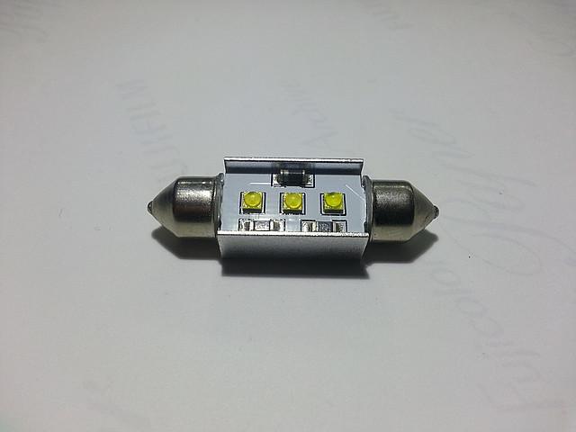Светодиодная CANBUS автолампа с обманкой FT10-39mm-CANBUS-9W (200Lm) CREE LED, фото 1