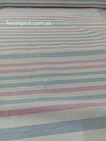 Лен в разноцветную полоску (шир. 160см), фото 1