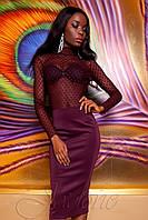 Женская блуза Халиси бордовая