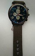 Мужские часы Curren кварцевый корпус металл ремешок кофейный нейлон циферблат синий
