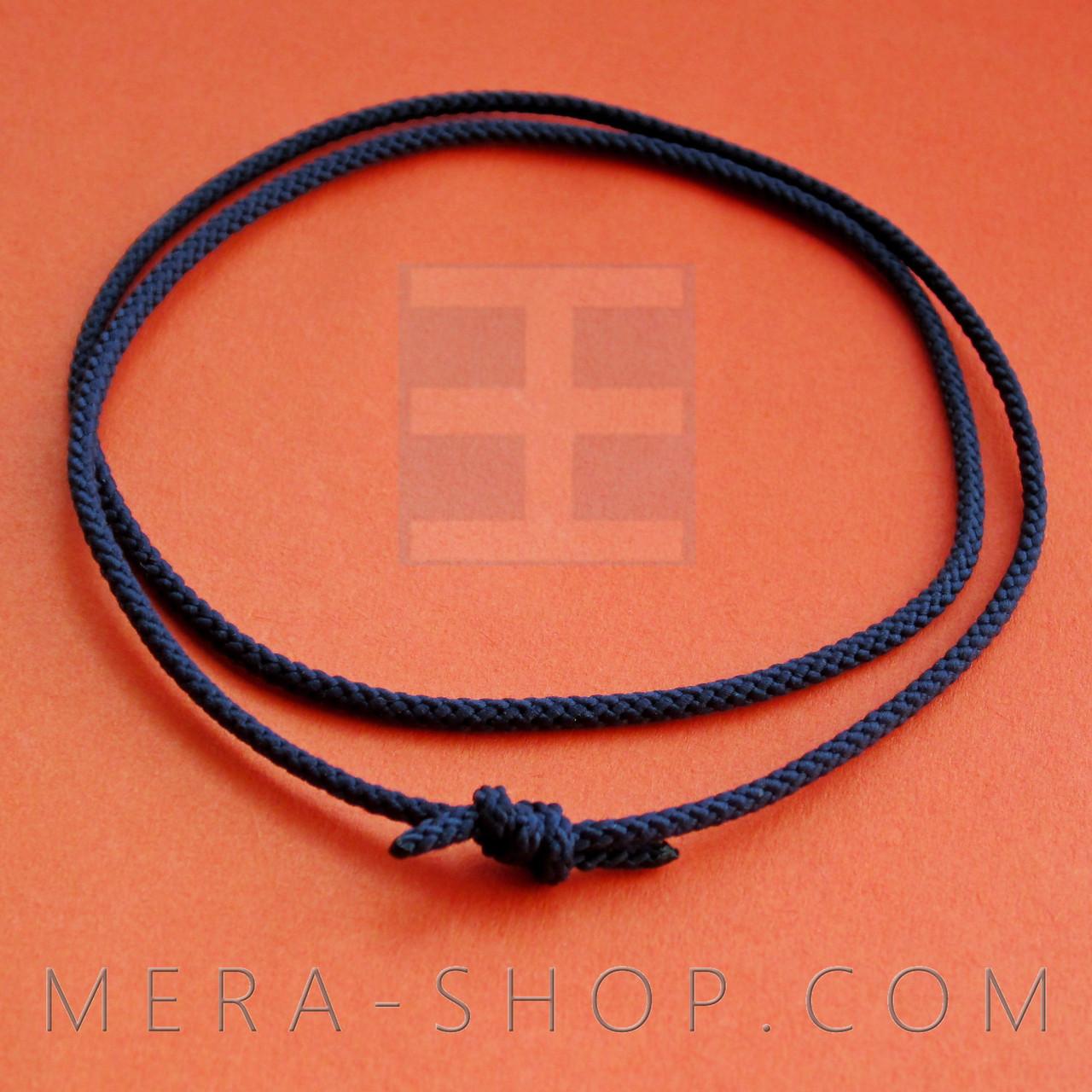 Шёлковый шнурок темно-синий (⌀2,0 мм)