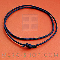 Синий шёлковый шнурок (2,0 мм)