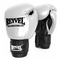 Перчатки боксерские Reyvel кожа 10 oz белые