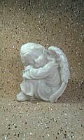 Ангел грустит №16 (белый мрамор) 24 см.