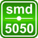 Стрічка світлодіодна 7,2 W SMD5050 Теплий білий (30 LED/м) Indoor IP33, фото 3
