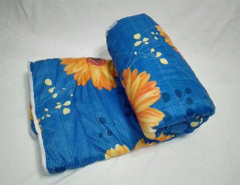 Двуспальное одеяло на овчине Код дво11